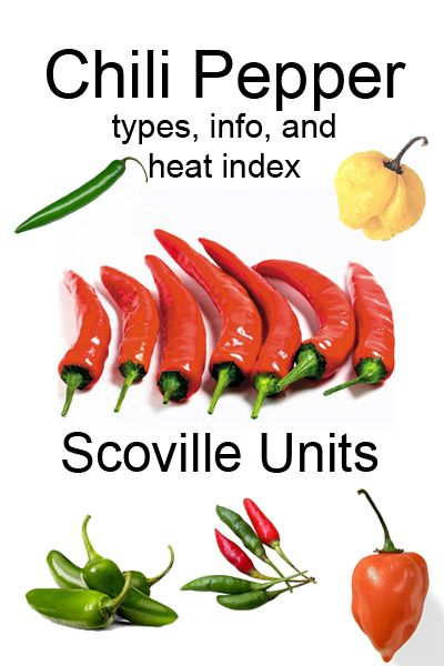 Chili Peppers - types, information and scoville heat index Chili