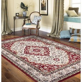 For Traditional Oriental Persian Style Red Indoor Area Rug 5 3 X 7