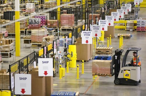 Inside Amazon S Cavernous Distribution Center A Symphony Of