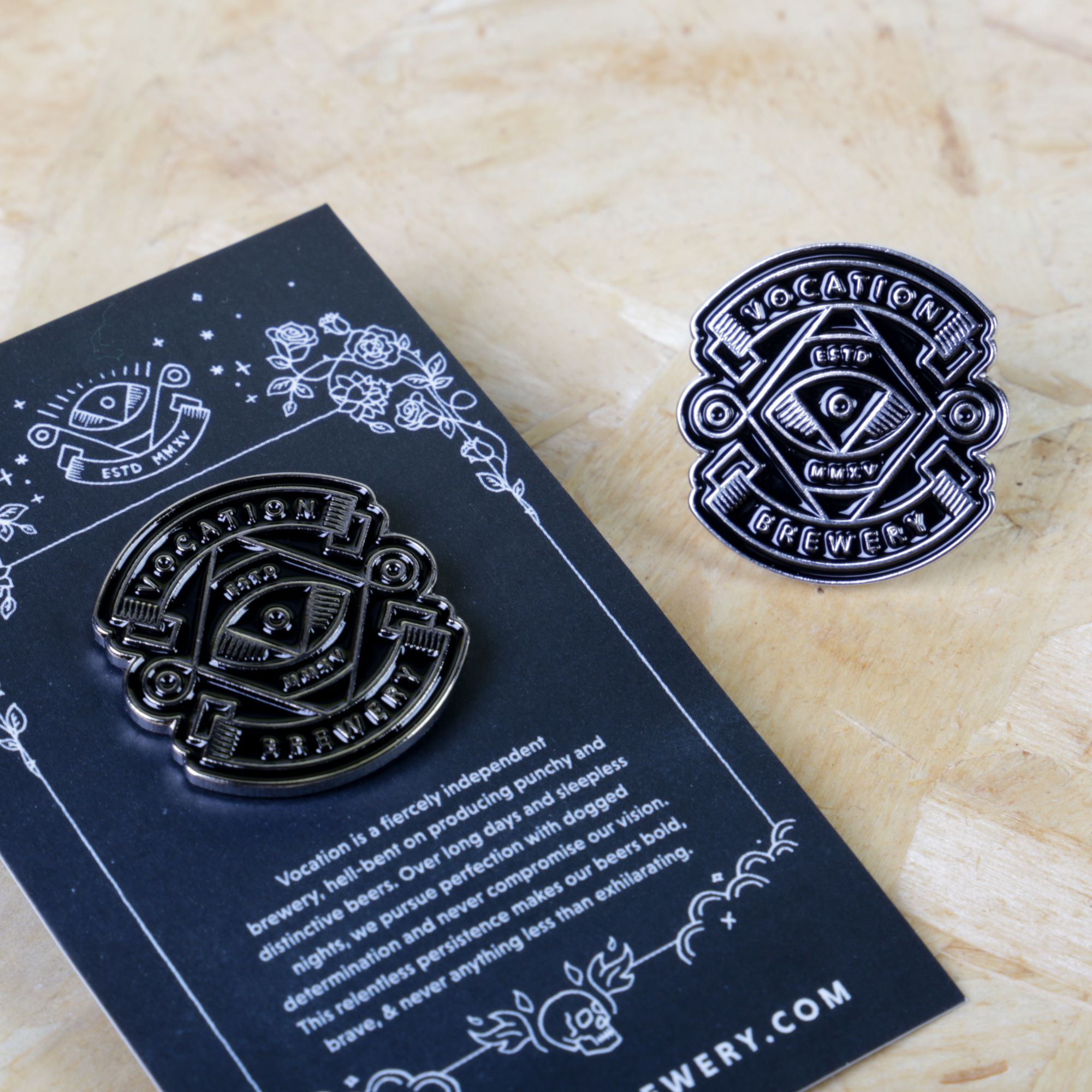 These enamel pin badges for Vocation Brewery have some serious ...