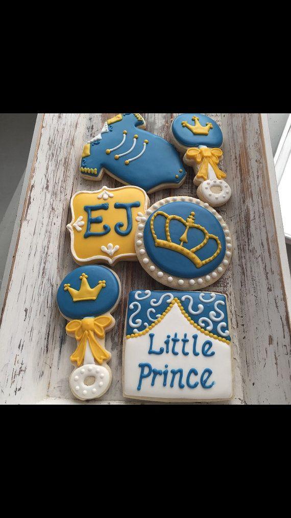 Poco Príncipe bebé ducha Cookies 1 docena por MJCookiesConfections