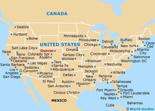 Denver World Map.Denver Map Of Denver Airport Den Orientation And Maps For Den