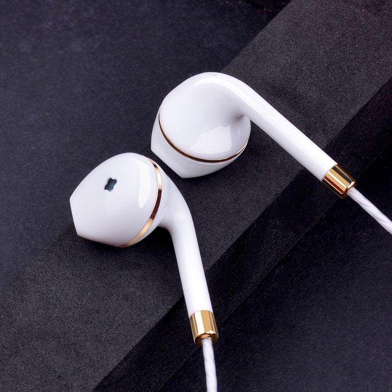 Click To Buy Original Wired Earphone For Apple Iphone 6 5 Xiaomi Samsung Android Phone Jack Bass Earpods Earpiece White Stereo H Naushniki Bas Elektronika