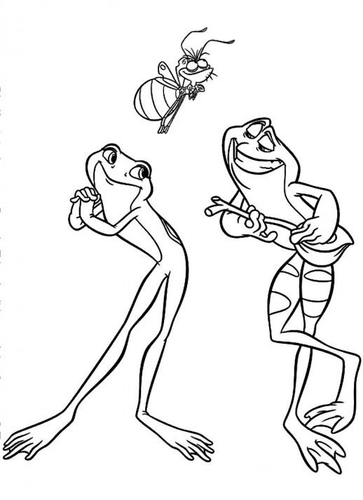 Tiana and Naveen Coloring Pages  Tiana And Prince Naveen Coloring