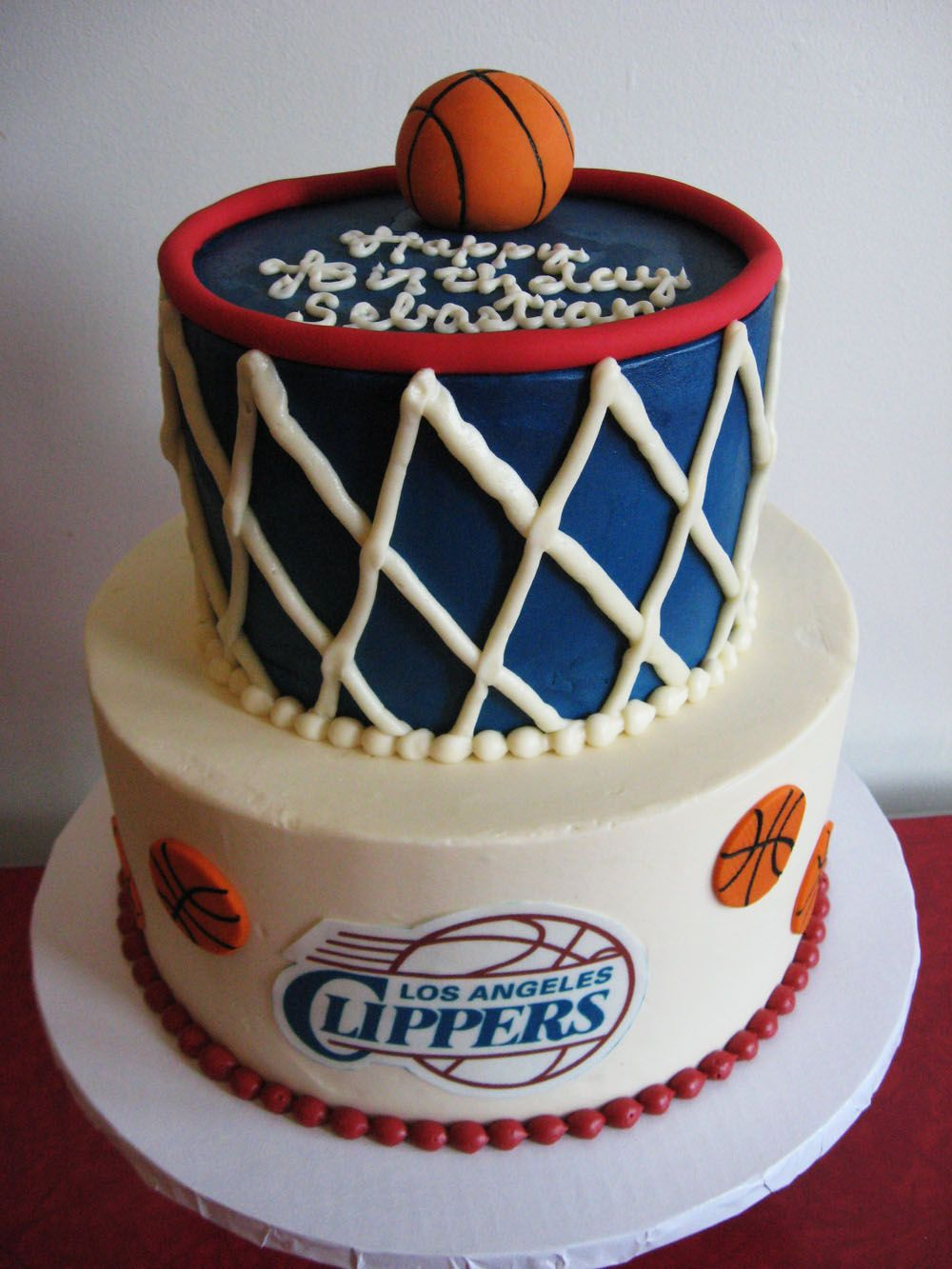 LA Clippers cake CUTE CAKES Pinterest Cake Boy cakes and