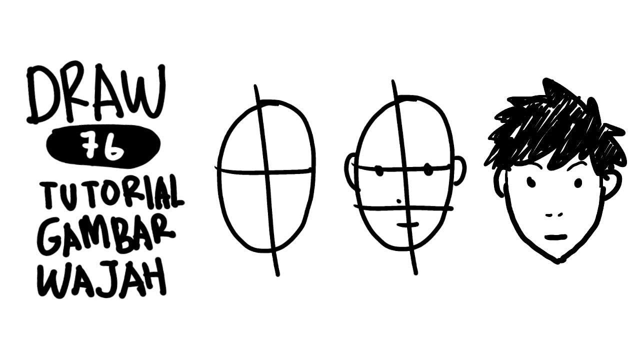 Draw 76 Tutorial Dasar Cara Menggambar Kepala Manusia Cara Menggambar Menggambar Kepala Gambar