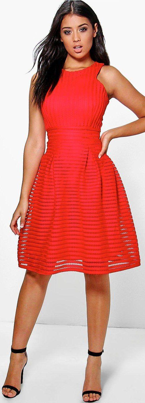 eaf93d441e Boutique Li Panelled Full Skirt Skater Dress - Dresses - Street Style