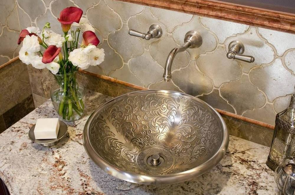Bathroom Sink Made With Old World Turkish Method Enabling