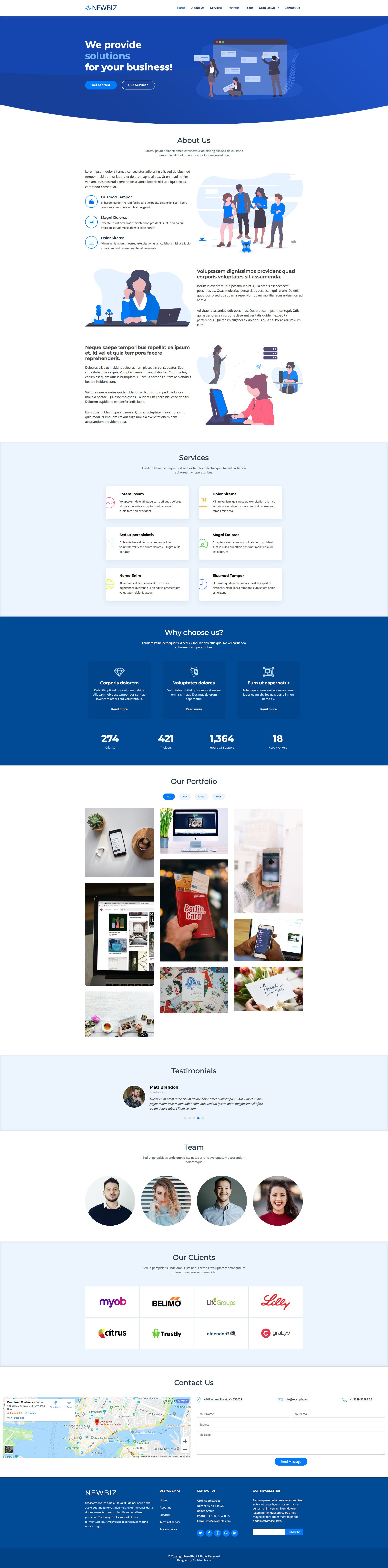 Free responsive HTML5 Bootstrap Business template