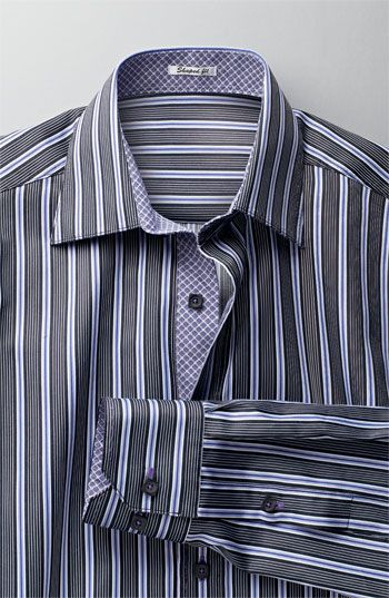 12d5ab526 Bugatchi Uomo men's shirt - love the contrast print on the collar and cuffs