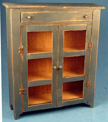 Country Cupboard   Distressed Blue