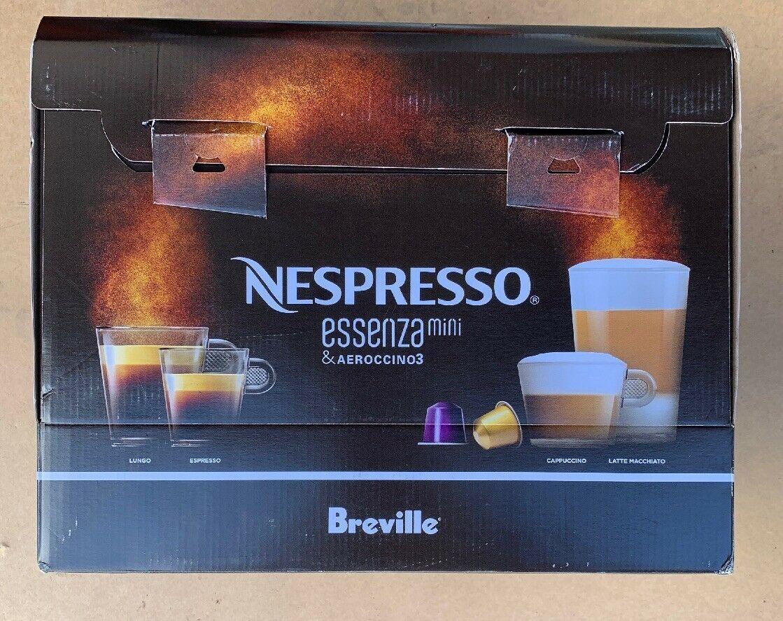 New! Nespresso Essenza Mini And Aeroccino3 Piano Black