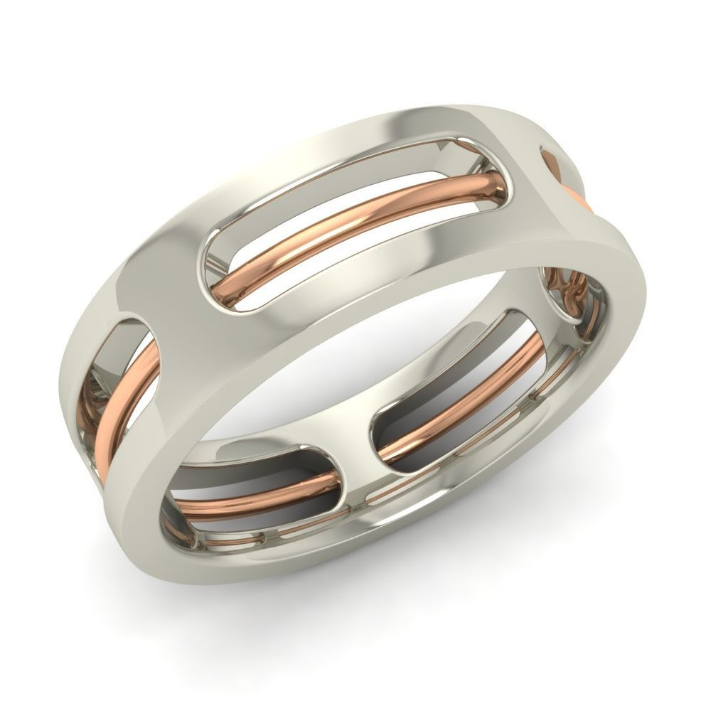 sterling silver twisted rope design men's wedding ring / band in -6