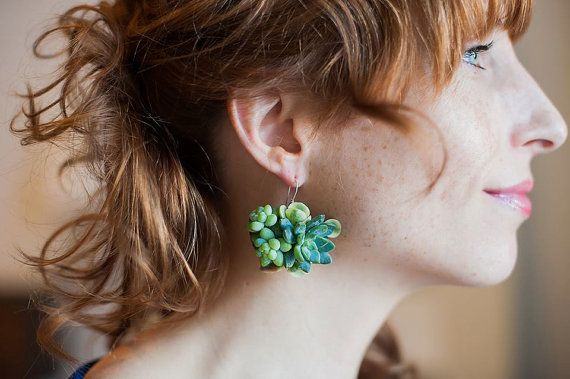 succulent jewelry by Passionflower