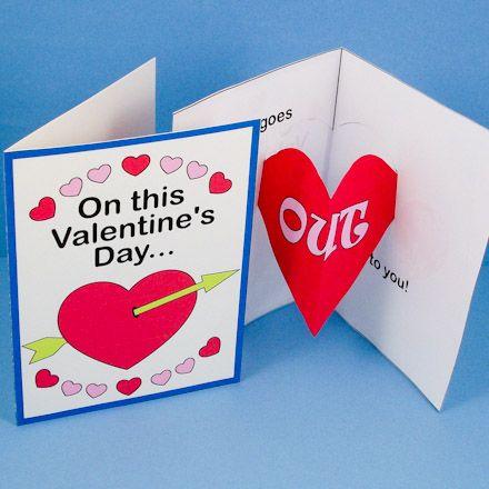 Valentine Heart Pop Up Card