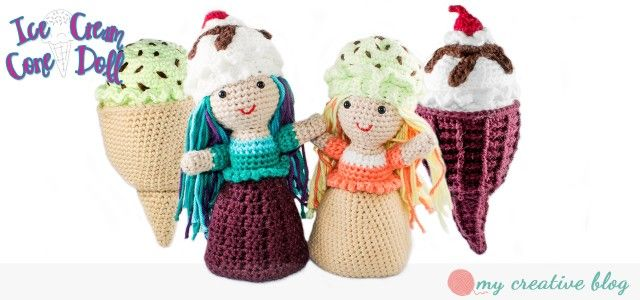 Ice Cream Cone Doll Crochet Pattern