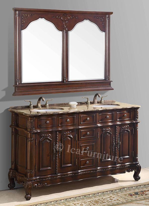 60 Inch Double Vanity With Mirror