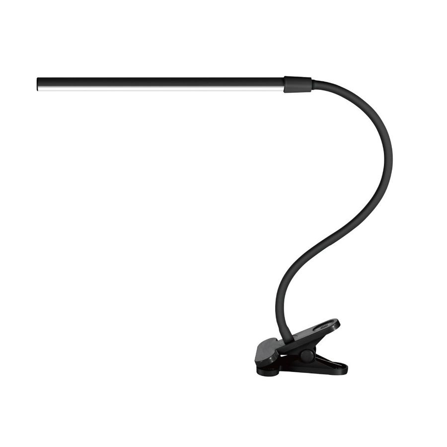 Newhouse Lighting Newhouse Lighting 32-In Adjustable Black Led Clip Desk Lamp With Shade Nh5c-Blk