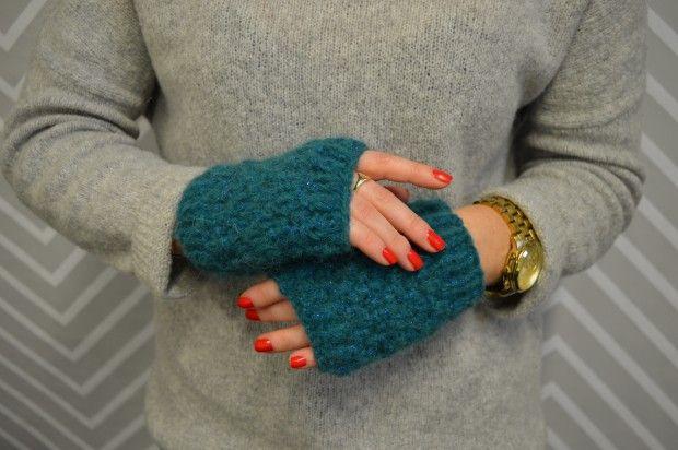 Schnell gestrickt: Handschuhe im Perlenmuster   Strickideen und Stricken