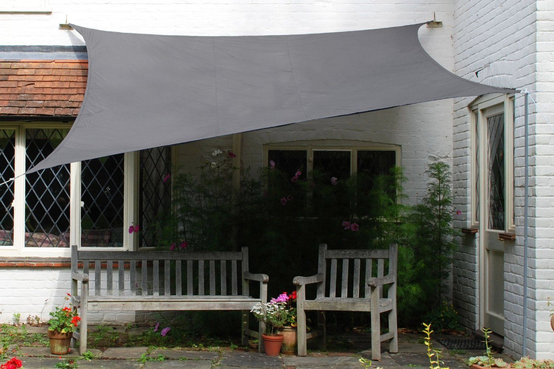 kookaburra charcoal waterproof shade sail 4m x 3m. Black Bedroom Furniture Sets. Home Design Ideas