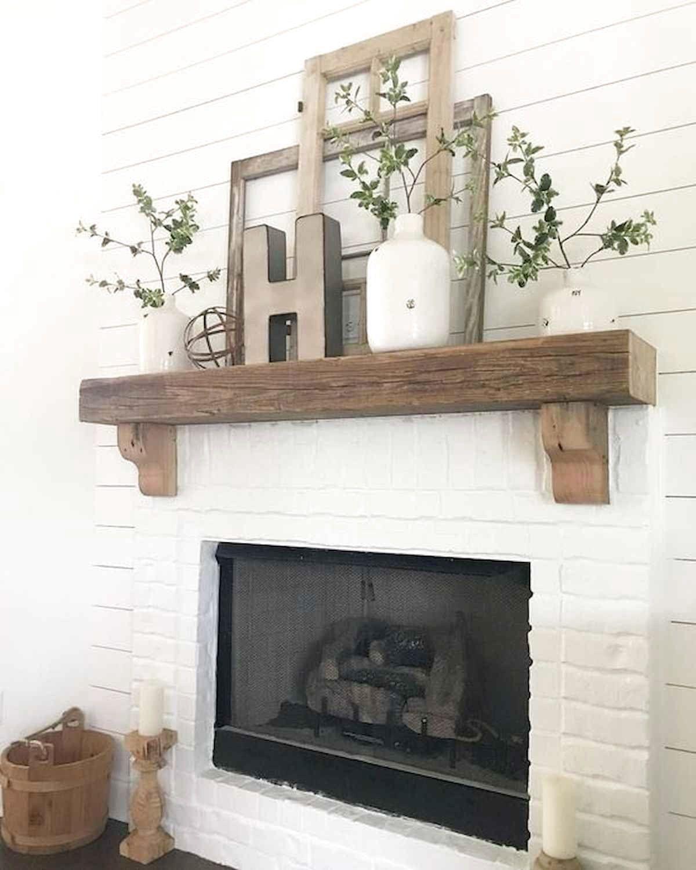 Best Modern Farmhouse Fireplace Mantel Decor Ideas Frugal Living Fireplace Mantel Decor Fireplace Remodel Living Room With Fireplace