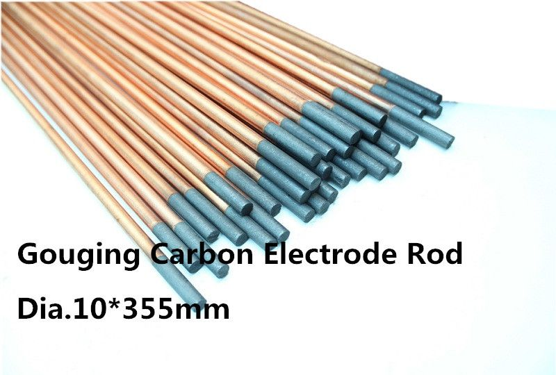 Dia 10 355mm Round Copper Plating Carbon Rod 5pcs For Sheet Metal Repair Or Co2 Protection Welding Welding Rods Welding Accessories Heating Rod