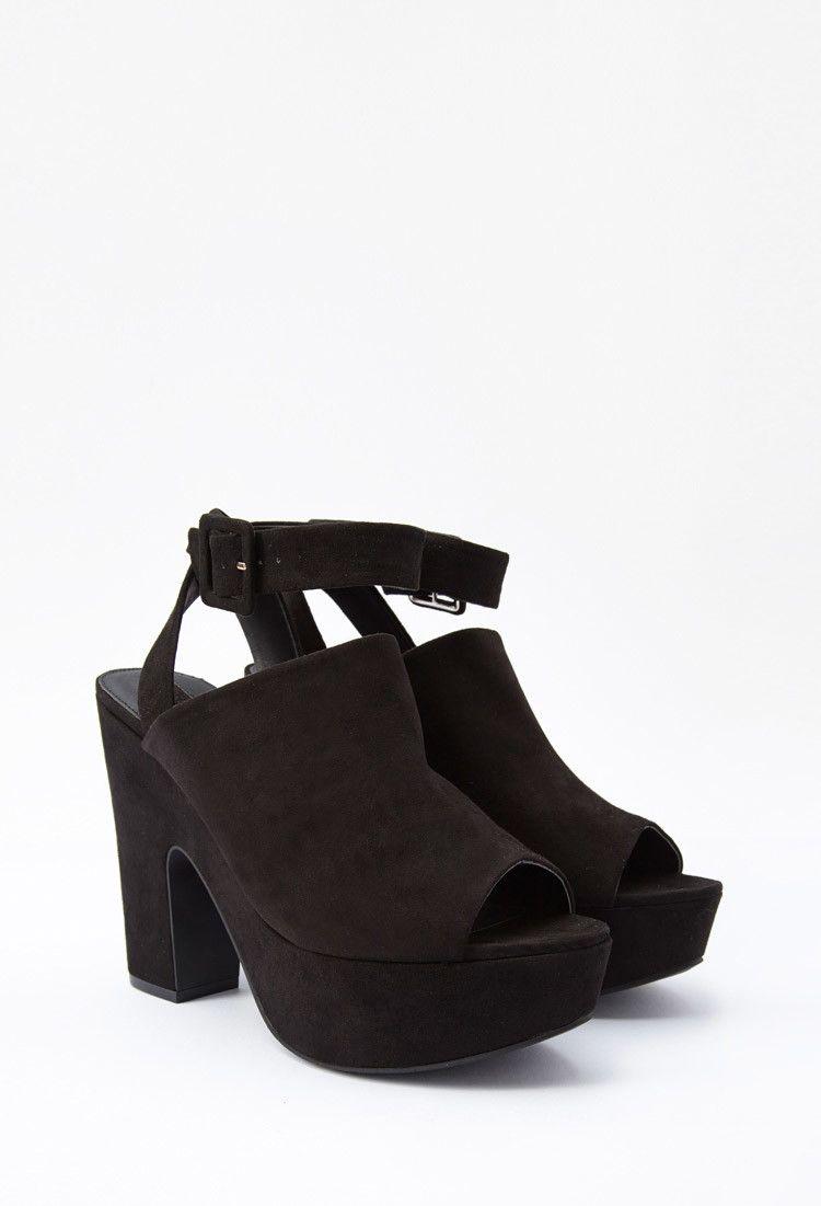 bbab7338a02 Faux Suede Platform Sandals