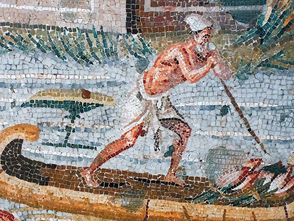 Fragment Eines Mosaiksfest Bei Der Niluberschwemmung Aus Praenste