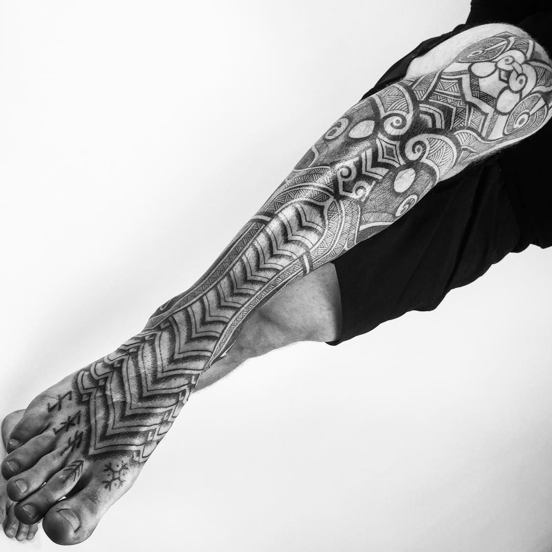 viking inspired tattoo by Peter Walrus Madsen (2)