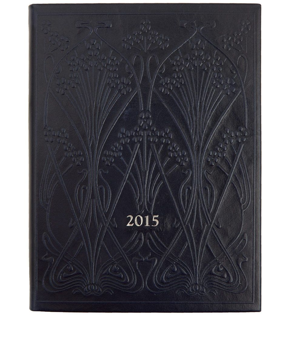 Liberty Print Navy Ianthe 2015 Leather Diary | Stationery | Liberty.co.uk