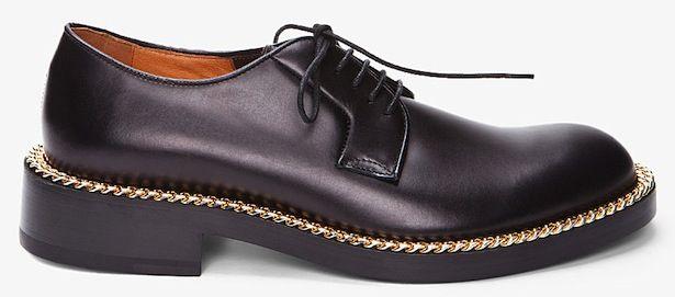 Raf Simons Gold Chain Dress Shoe