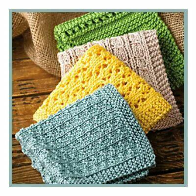 Washcloths Crochetknit Projects Pinterest Crochet Knitted