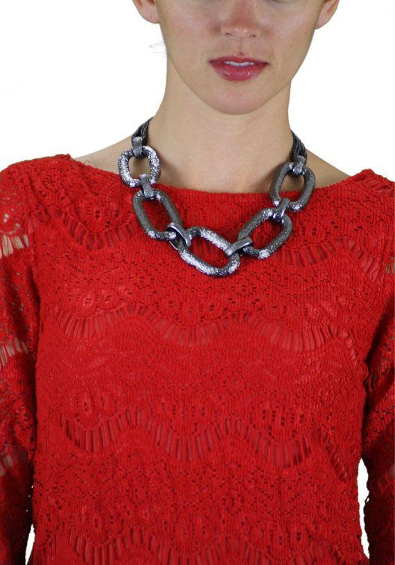 Locked Up Necklace Black by bijouxfufu on Etsy, $40.00