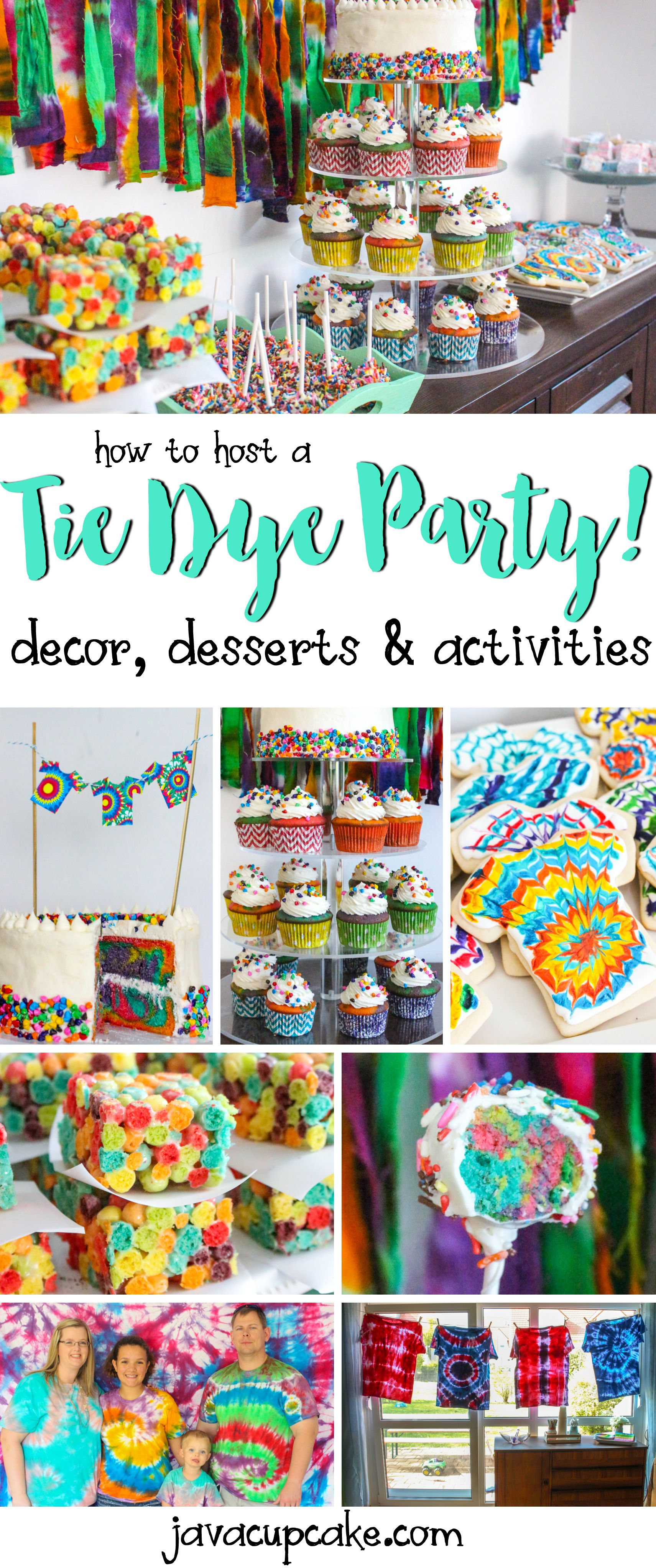 how to host a tie dye party decor desserts and game ideas all