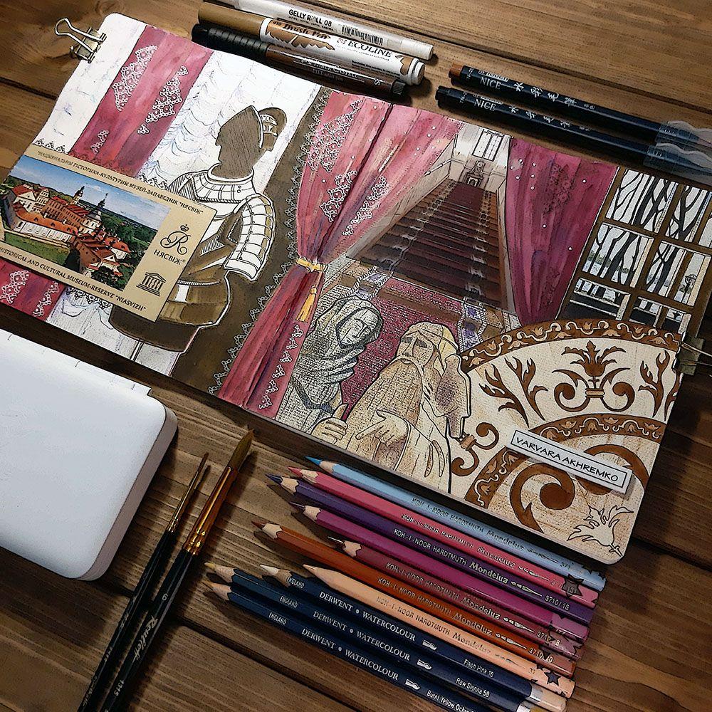 Мне иногда нравится показывать все инструменты, которыми я что-нибудь рисовала, хотя это довольно муторно - выкладывать все это по какому-нибудь ранжиру