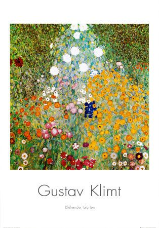 Flower Garden Print Tree Painting Canvas Klimt Art Art Prints