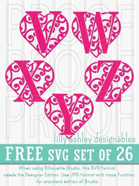 Download Free SVG File Set of Letters | Free svg, Cricut crafts ...