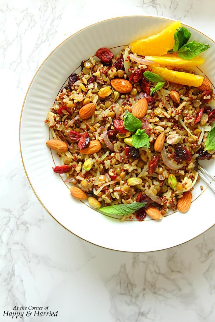 Protein Packed Persian Jewelled Pilaf Vegan Gf