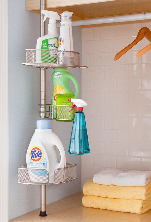 Shower Caddy as Laundry Room Organizer ~ | DIY Organization ...