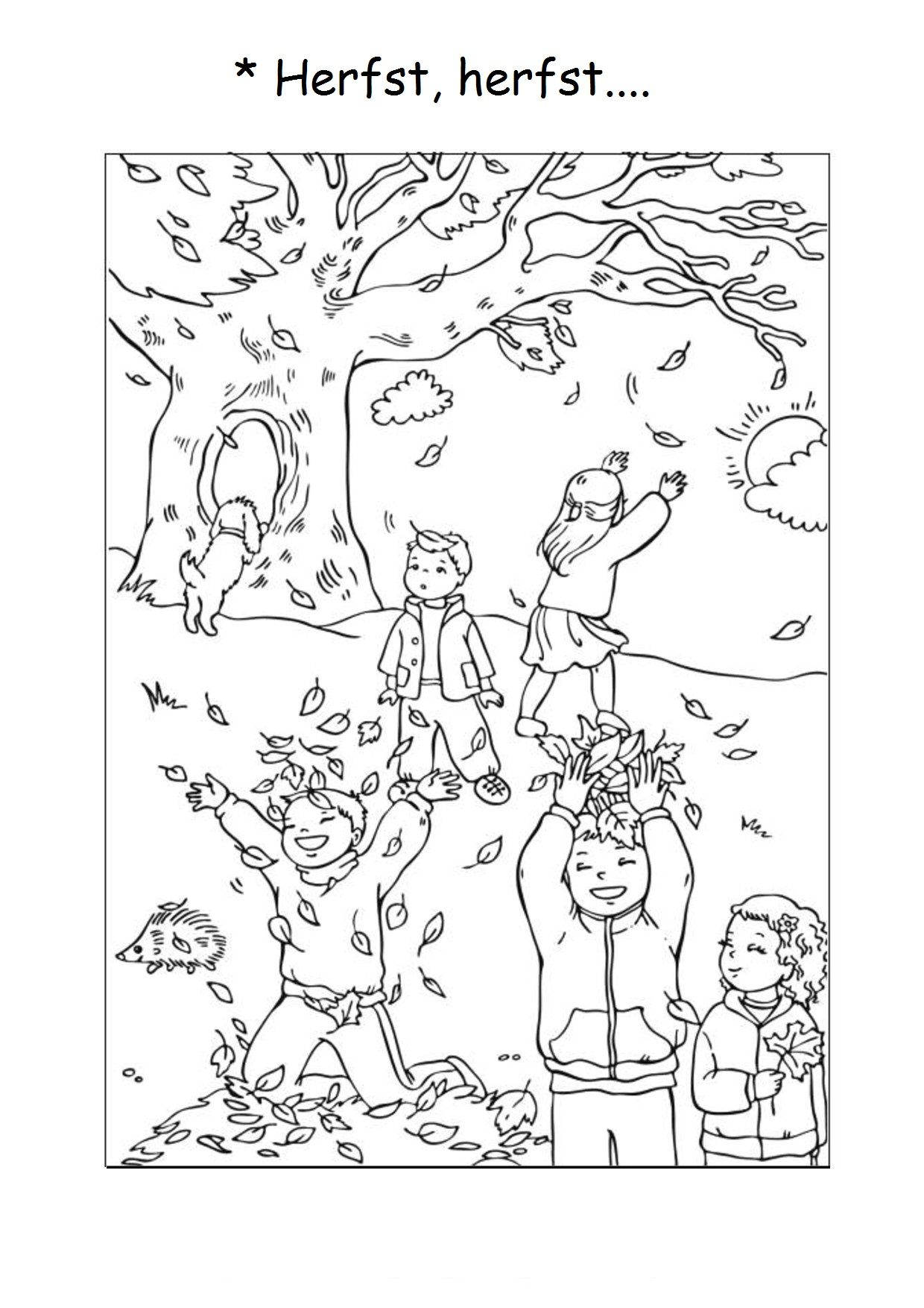 Kleurplaten Pompom Winter.Awesome Kleurplaat Herfst Pompom Kleurplaten