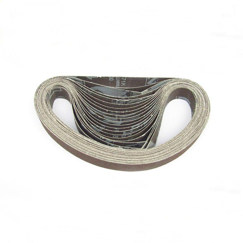 10 Pieces Lot 330 10mm 457 13mm Aluminium Oxide Sanding Sand Belt For Belt Sander Pieces 10mm 13mm Aluminium Belt Sander Belt Sander Uses Aluminum Oxide