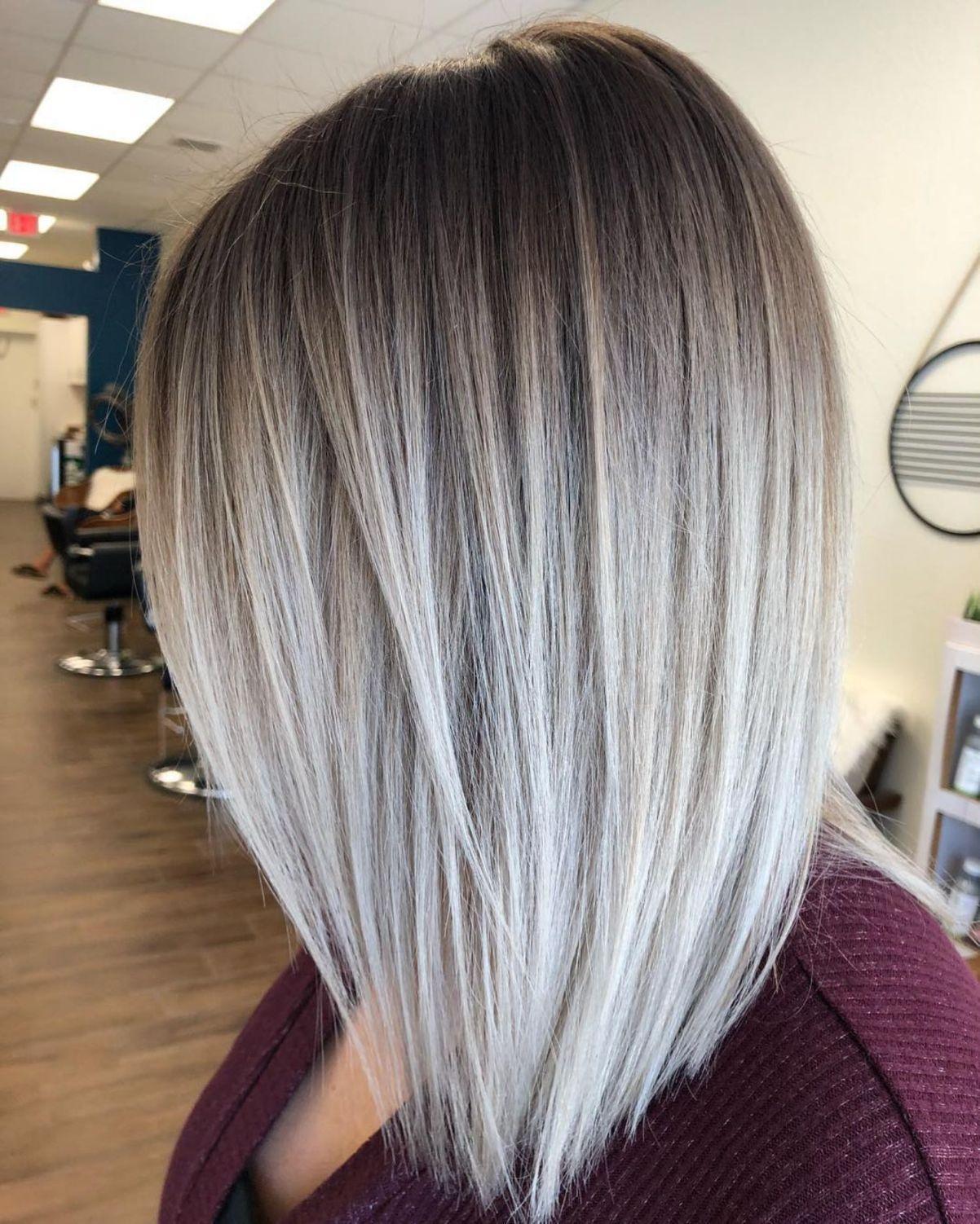Gray Bronde Balayage Fade In 2020 Medium Length Hair Styles Long Hair Styles Hair Styles