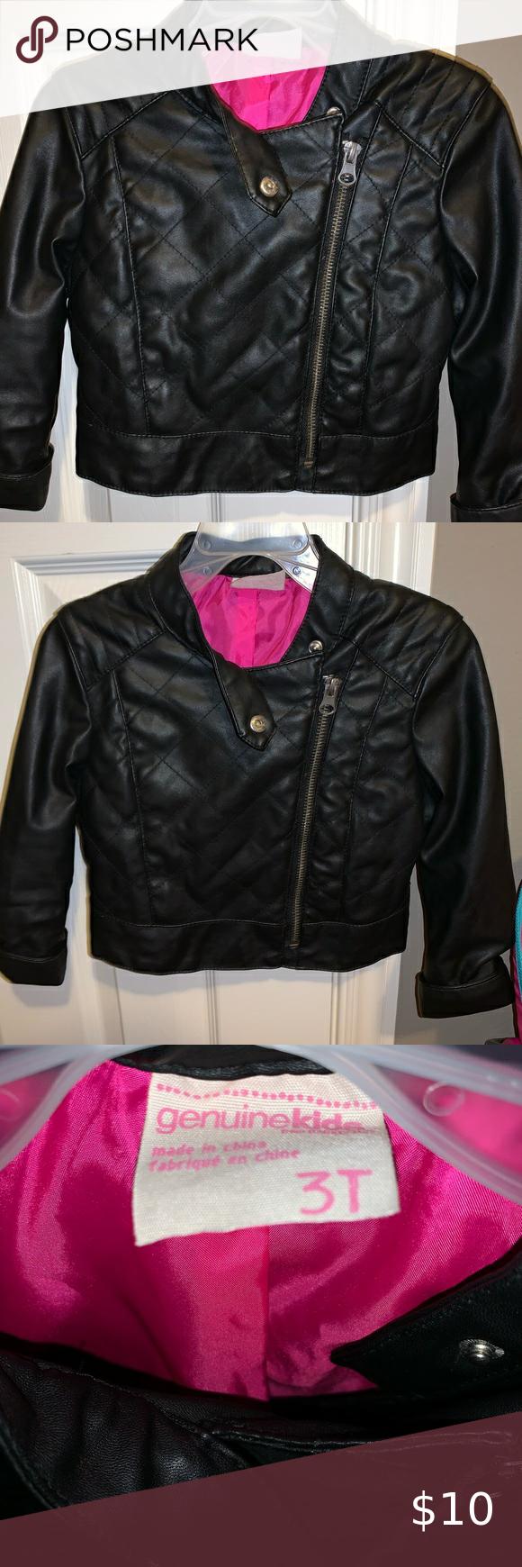 Toddler Girls Leather Jacket Leather Jacket Girl Leather Jacket Jackets [ 1740 x 580 Pixel ]