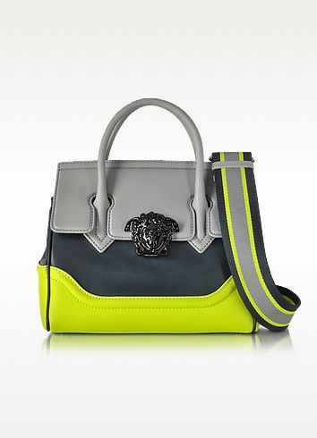 2723b9158c VERSACE SMALL PALAZZO EMPIRE COLOR BLOCK LEATHER TOTE BAG. #versace #bags  #canvas #tote #leather #lining #shoulder bags #hand bags #