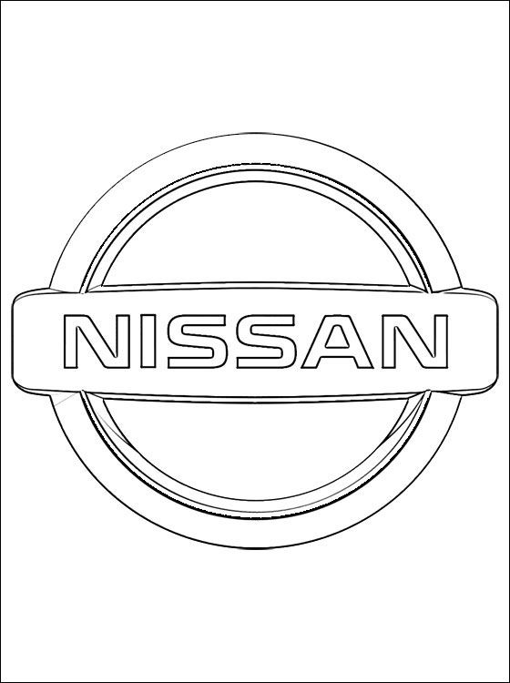 coloring page nissan logo coloring pages coloring_pages pinterest nissan