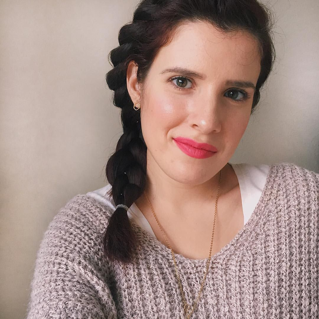 My lazy day hairstyle- a rope braid turned into a regular braid. | Lazy day hairstyles, Easy ...