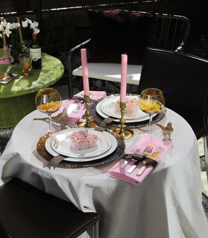 10 Romantic Valentine S Day Table Settings Blissfully Domestic Dinner Table Setting Cheap Table Decorations Romantic Dinner Setting