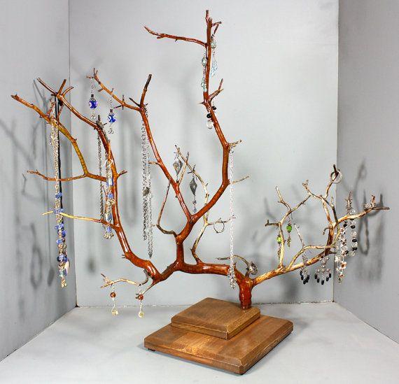 Jewelry Tree  WIDE Manzanita  1041 by RedBarkDesigns on Etsy, $39.00