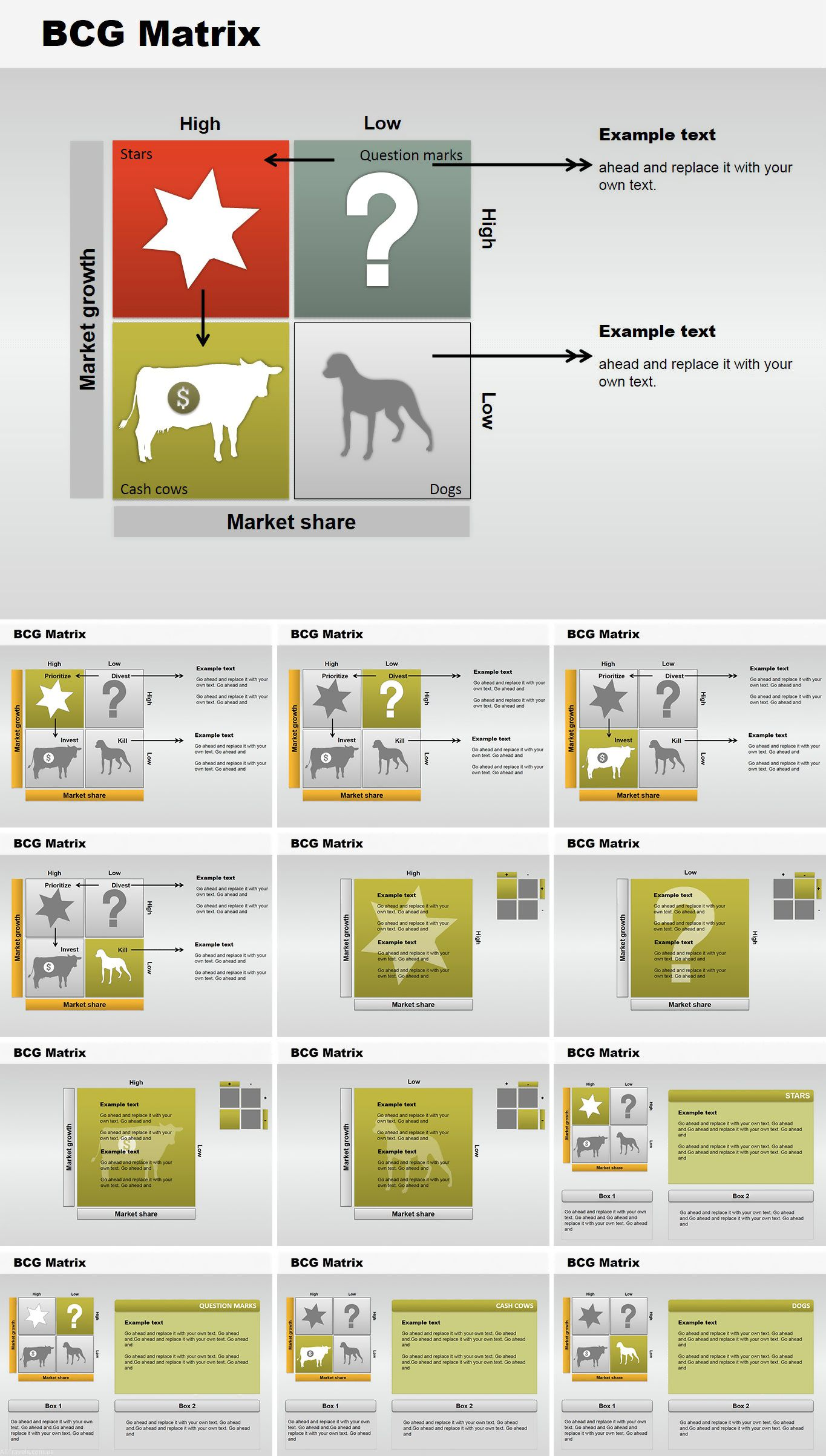Bcg Matrix Powerpoint Charts Powerpoint Charts Matrix Marketing Strategy Template