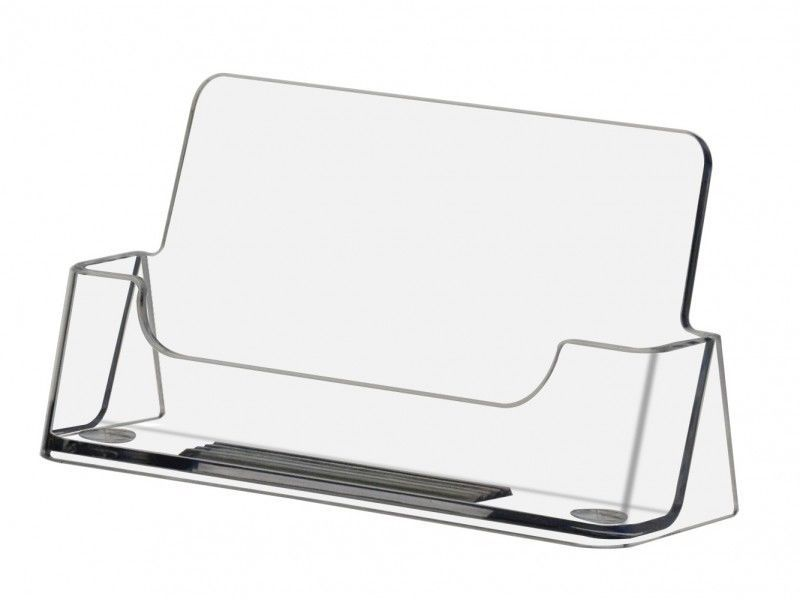 50 Clear Acrylic Ridged Business Card Holder Display Stand Calling ...